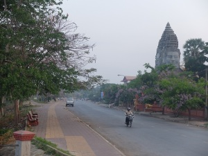 Early morning on the east bank of Battambang.