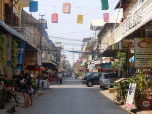 Street view in Battambang.